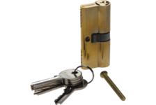 Механизм цилиндровый ЗУБР МАСТЕР 70 мм, тип ключ-ключ, 5-PIN, латунь