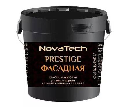 Краска ВД NovaTech Facadework PRESTIGE фасадная для наружных работ 15 кг