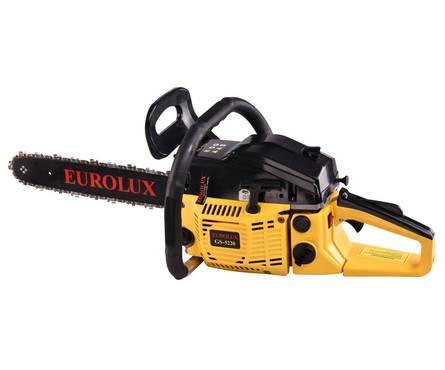 Бензопила цепная Eurlux GS-5220, мощность 2,4 кВт, длина шины 20/50 см Фотография_0
