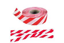 Лента сигнальная бело-красная 50 мм*150 м