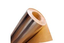 Фольга алюминиевая на крафт-бумаге ширина 1200 мм, натуральная (рул/12 м²)