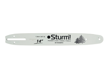 Пильная шина Sturm! SB1450380PO 14, паз 1.3 мм, 3/8, 52 звеньев, хвостовик PO