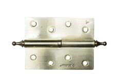 Петля дверная ЗУБР ЭКСПЕРТ разъемная левая, цвет матовая латунь, 100х75х2.5 мм (уп/2 шт)