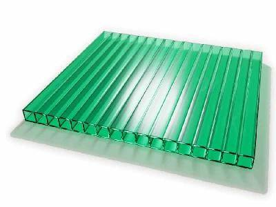 Поликарбонат сотовый Skyglass зеленый 6 мм 2,1х12 м