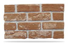 Гипсовая плитка Кирпич под клинкер 500-09 светло-коричневый, 6.5х24 см