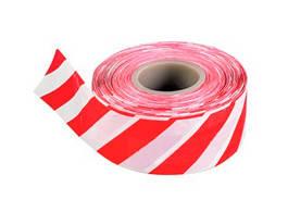 Лента сигнальная бело-красная 75 мм*150 м SD-GLASS (6 шт/уп)