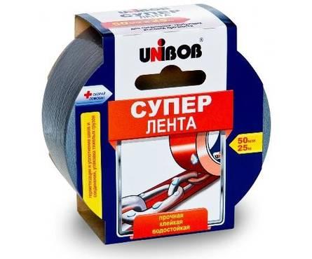 Скотч армированный 50 мм*25 м СУПЕР ЛЕНТА UNIBOB (36шт/уп)