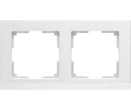 Рамка 2 Поста Универсальная Белый Stark Werkel Фотография_0
