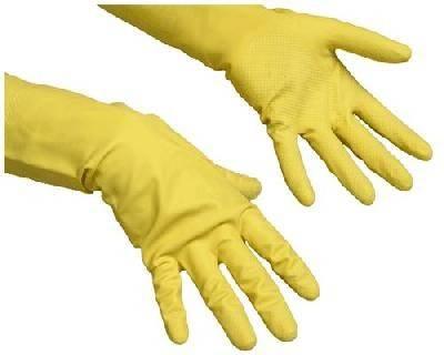 Перчатки Резиновые Контракт S желтые Фотография_0