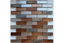 Мозаика Caramelle Mosaic Naturelle Alcantara Ruggine 260х298х8 мм, чип 23*73 мм