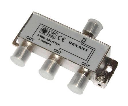 Делитель-3 ТВ Rexant под F разъем  5-1000 MHz Фотография_0