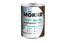 Грунт-эмаль Mokke по ржавчине 3 в 1, коричневая (20 кг)