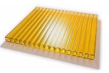 Сотовый поликарбонат Sunnex, желтый (12 м, 6 мм)