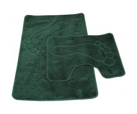 Набор ковриков для ванной Zalel 2 предмета 55х85 (зеленый)