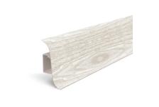 Плинтус для пола Идеал Альфа К45 Ясень белый/252 (2.5 м)