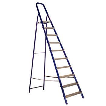 Стремянка стальная 10 ступеней (высота 208см, вес 10,2кг)