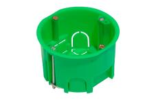 Коробка установочная HEGEL КУ1202 с металлическими лапками, 68х45 мм