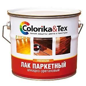 Лак паркетный Colorika&Tex  матовый 2,7кг Фотография_0