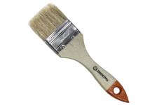 Кисть Вихрь Стандарт 50 мм, плоская натуральная щетина, деревянная ручка