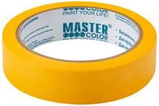Лента малярная MASTER COLOR золотистая, рисовая бумага, термостойк. до 100°C, УФ-стойкость до 30 дней, 24 мм х 25 м