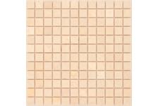 Мозаика Caramelle Mosaic Pietrine Botticino матовая, 298х298х4 мм, чип 23х23 мм