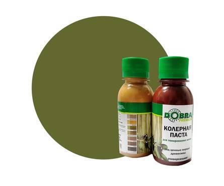 Колер для тонирования лаков Dobra PREMIUM олива 100 мл.
