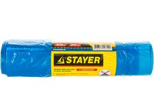 Мешки для мусора STAYER Comfort с завязками, особо прочные, голубые, 60 л (рулон/20 шт)