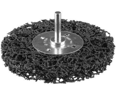 Щетка дисковая д/дрели ЗУБР нейлон проволока с абраз покр, с открытой агрессивной структурой, 63мм  Фотография_0