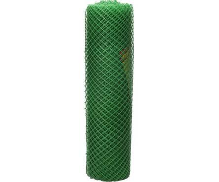 Сетка садовая ячейка 17 ромбическая, 0,9х20м пластиковая зеленая Фотография_0