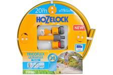 Набор для полива HoZelock Tricoflex Ultraflex Starter Set: шланг 19 мм, 20 м, комплект фитингов