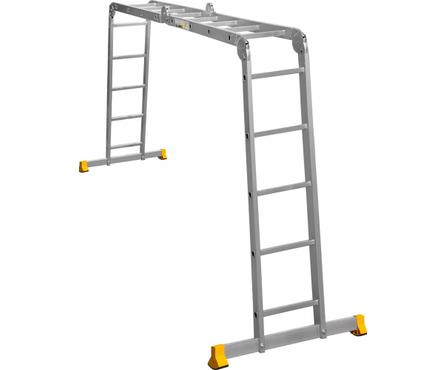 Лестница-трансформер алюминиевая 2*4+2*5 ступ. Т 445 Фотография_0