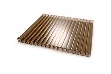 Сотовый поликарбонат GOLDEN PLAST 10 мм, коричневый 12х2.1 м, БСТ