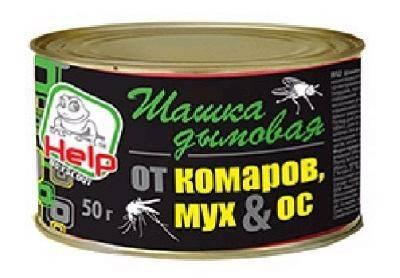 Шашка дымовая от комаров, мух и ос, инсектицидная, 50г. HELP/50