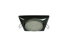 Светильник встраиваемый Ecola GX53 Н4 квадрат, черный хром, 107*41 мм