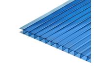 Поликарбонат сотовый Кристалл 6000 / 2100 / 4 мм, синий