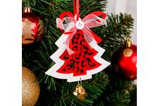 Подвеска новогодняя «С узорами и колокольчиками» МИКС