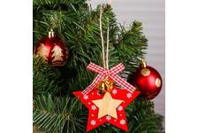 Подвеска новогодняя «Звёздочки с колокольчиками»