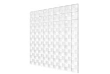 Решётка вентиляционная декоративная потолочная 595х595 (белая)