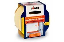 Лента малярная 50 мм*25 м желтая профессиональная для внутренних работ UNIBOB (36 шт/уп)