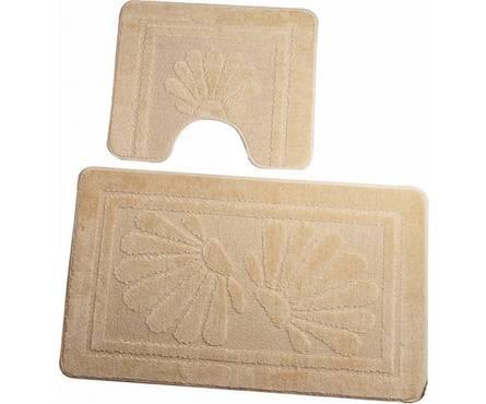 Набор ковриков для ванной Zalel 2 предмета 55х85 (бежевый)
