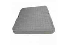 Люк полимерно-песчаный квадрат. тип Л 700х700мм (серый) 3т