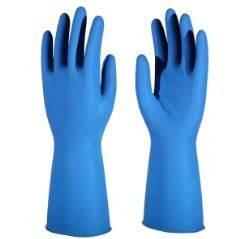 Перчатки латексные 0,28мм ЭКСПЕРТ УЛЬТРА+, без пудры синий, размер 8 Фотография_0