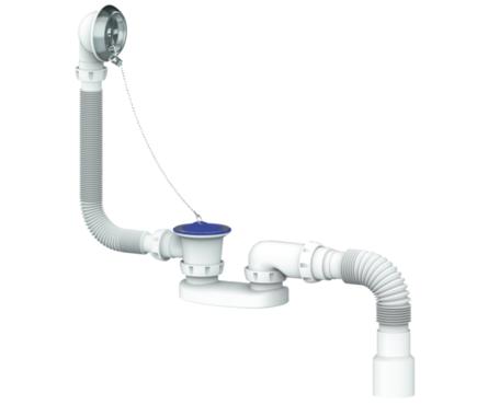 Сифон для ванны Unicorn и глубокого поддона, с гофрой 400мм 40 х 40/50 Фотография_0