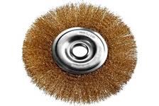 Щетка дисковая для УШМ DEXX 175х22 мм, витая, стальная латунированная проволока, 0.3 мм