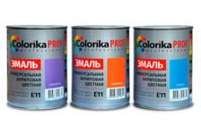Эмаль Colorika Prof акриловая универсальная желтая  0,9л Е-11