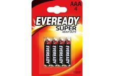 Элемент питания Eveready Super HD AAA-R03 4шт. 6100(1*12)