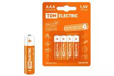 Элементы питания LR03 AAA Alkaline 1,5V BP-4 TDM (4шт\уп)