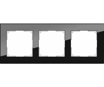 Рамка 3 Поста Универсальная Черный Стекло Favorit Werkel Фотография_0