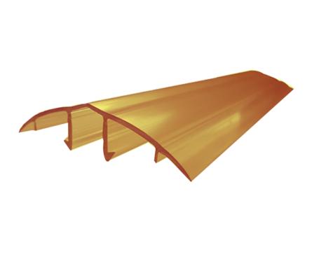 Профиль соединительный крышка, HCP-U, 6-10 мм, бронза 6 м Фотография_0
