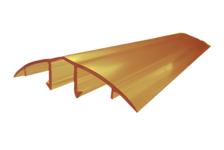 Профиль соединительный крышка, HCP-U, 6-10 мм, бронза 6 м